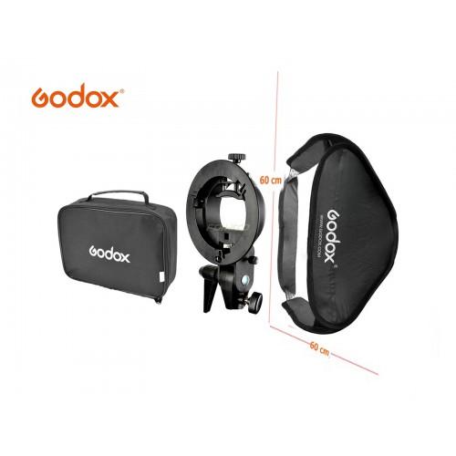GODOX SOFTBOX S-TYPE BOWENS SPEEDLITE (60X60 CMS)