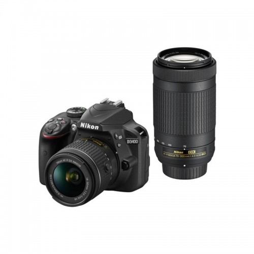 NIKON CAMARA D3400 KIT DOBLE LENTE 18-55/70-300 MM
