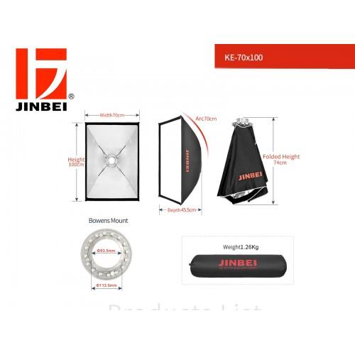 JINBEI SOFTBOX QUICK OPEN 70X100 CMS MONTURA BOWEN